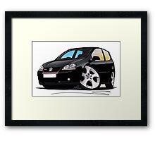 VW Golf GTi (Mk5) Black Framed Print
