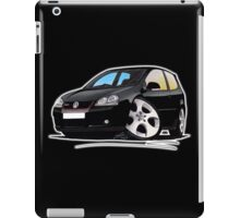 VW Golf GTi (Mk5) Black iPad Case/Skin