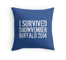 Awesome 'I survived Snowvember Buffalo 2014' Snowstorm T-Shirt and Accessories Throw Pillow