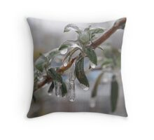Iced Buddelia Throw Pillow