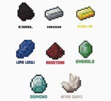 Minerals - Minecraft by Gaia Romei