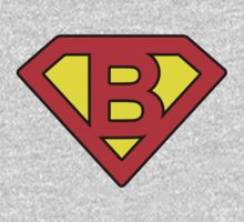 B letter in Superman style One Piece - Long Sleeve