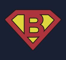 B letter in Superman style One Piece - Short Sleeve