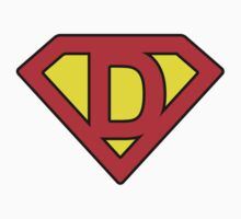 D letter in Superman style Kids Clothes