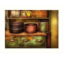 Chef - Kitchen - Food - The cake chest Art Print