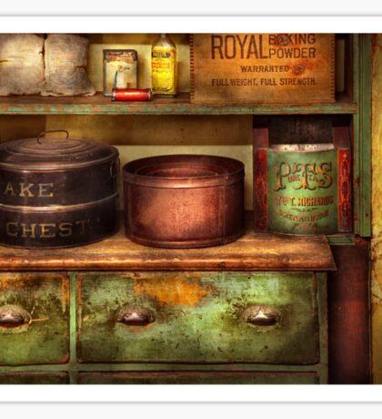Chef - Kitchen - Food - The cake chest Sticker