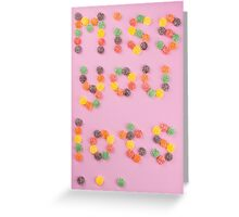 Miss You Lots... on pink Greeting Card