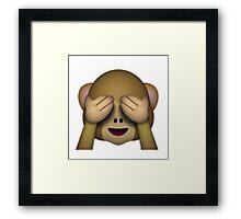 Emoji See No Evil Monkey Framed Print