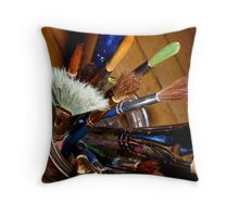 brushes Throw Pillow