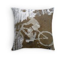 the cyclist Throw Pillow