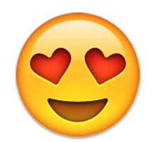 Emoji Heart Eyes Face by assorted
