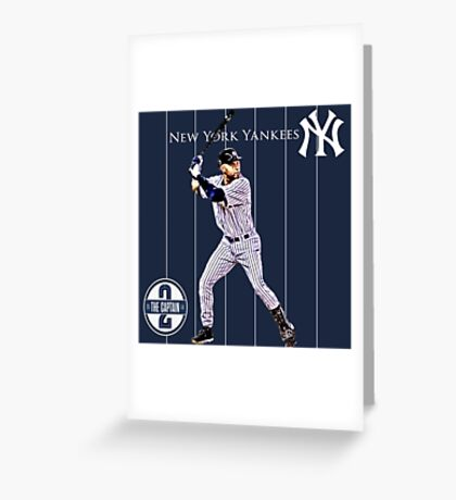 New York Yankees Captain Derek Jeter Greeting Card