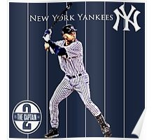 New York Yankees Captain Derek Jeter Poster
