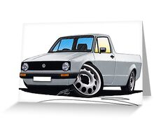 VW Caddy Silver Greeting Card