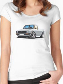 VW Caddy Silver Women's Fitted Scoop T-Shirt