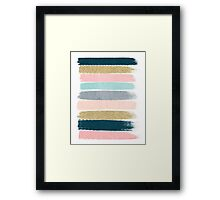 Zara - Modern abstract brushstroke painting for cute cell phone and trendy gifts Framed Print