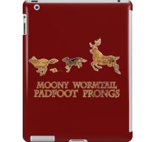 Harry Potter Marauder's Map: Moony, Wormtail, Padfoot & Prongs iPad Case/Skin