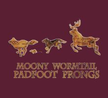 Harry Potter Marauder's Map: Moony, Wormtail, Padfoot & Prongs by Alice Edwards