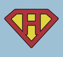 H letter in Superman style Baby Tee