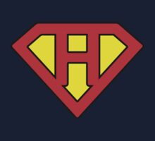 H letter in Superman style One Piece - Long Sleeve
