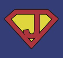J letter in Superman style by Stock Image Folio