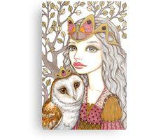 Sisterhood of the white owl Metal Print