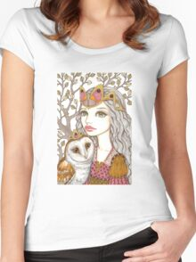 Sisterhood of the white owl Women's Fitted Scoop T-Shirt