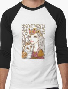Sisterhood of the white owl Men's Baseball ¾ T-Shirt
