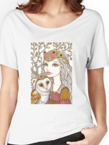 Sisterhood of the white owl Women's Relaxed Fit T-Shirt