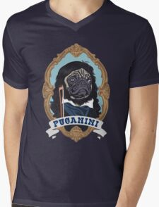 Puganini Mens V-Neck T-Shirt