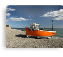 Branscombe Fishing Boat Canvas Print