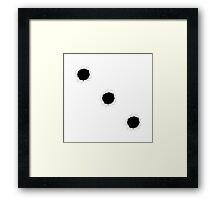 Bullet Holes Framed Print