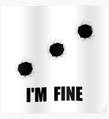 Bullet Holes Fine Poster