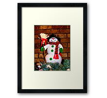 Frosty Is Ready For Christmas Framed Print