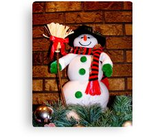 Frosty Is Ready For Christmas Canvas Print