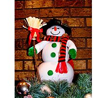 Frosty Is Ready For Christmas Photographic Print