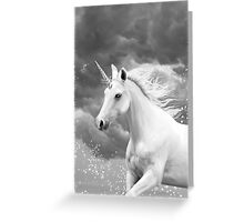 Unicorn in Snow Greeting Card