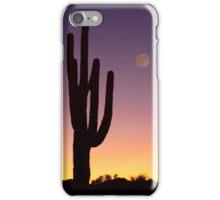 Early Morning Southwest Desert Moon Glow iPhone Case/Skin