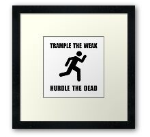 Trample Hurdle Framed Print