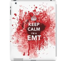 Funny and Gross 'Keep Calm I'm an EMT' Blood-Spattered T-Shirt iPad Case/Skin