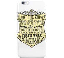 Blunt the Knives iPhone Case/Skin