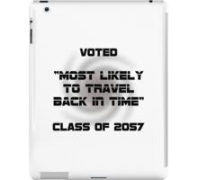 Voted Time Travel iPad Case/Skin