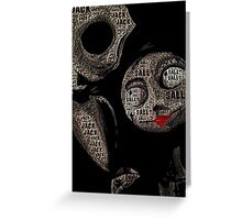 Jack and Sally - Nightmare Before Christmas - print with text Greeting Card