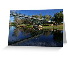 Uni Footbridge. Greeting Card