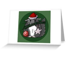 Chinchilla X-MAS Greeting Card