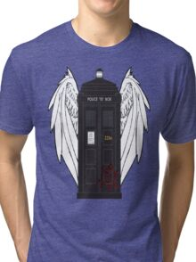 SuperWhoLock Tardis Tri-blend T-Shirt
