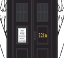 SuperWhoLock Tardis Sticker