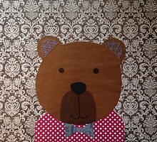 bear in a bow tie by Amy Shay