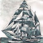 """Regina Maris"" Barquentine by Woodie"