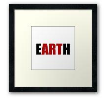 Earth Art Framed Print